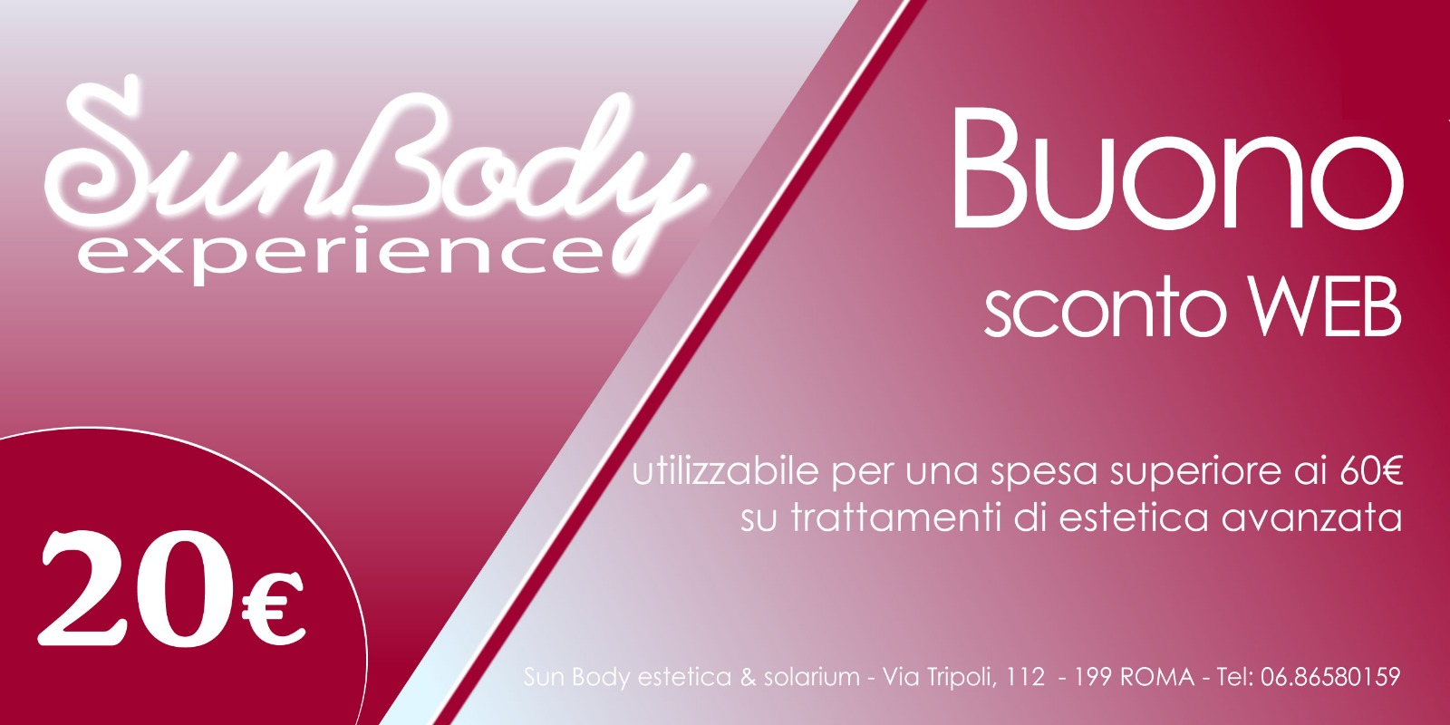 buono sconto trattamenti estetica SunBody Experience Roma quartiere africano